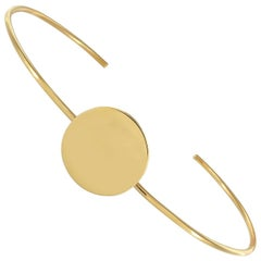 Ellie Air Total Eclipse Yellow Gold Bangle