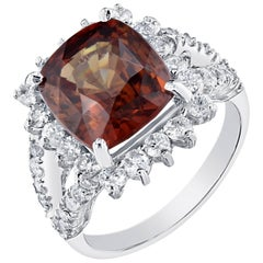 9.01 Carat Spessartite Diamond Ring