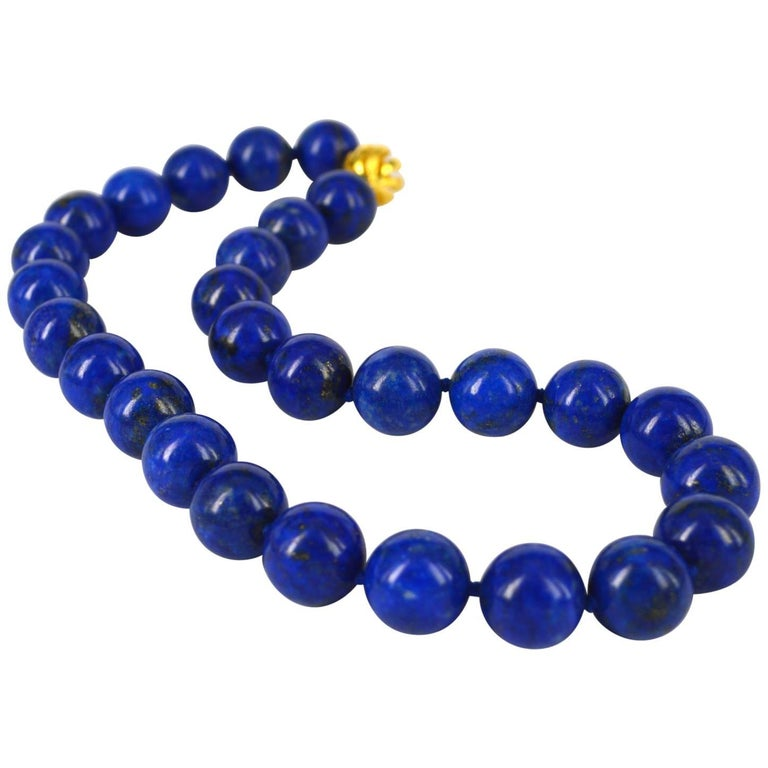 Decadent Jewels High Quality Lapis Lazuli Gold Necklace