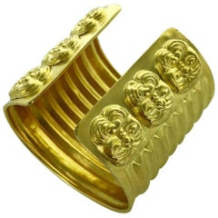 Ilias Lalaounis Yellow Gold Significant Cuff Bangle