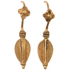 22 Karat Gold South Indian Earrings