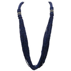 Woven Lapis Lazuli Beaded Necklace