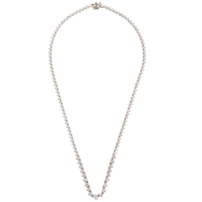 Diamond Three-Prong Set Riviere Necklace