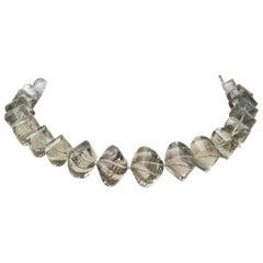 Cushion Cut Green Amethyst 'Prasiolite' Necklace