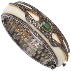 Diamond, Emerald and Bakelite Bracelet