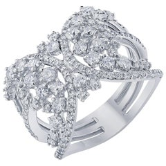 1.55 Carat Diamond Cocktail Ring