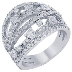 Fancy Cut Diamond Cocktail Ring