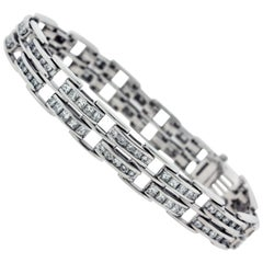 White Gold and Diamond Link Bracelet