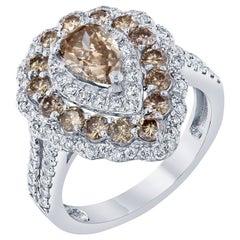 2.68 Carat Champagne Diamond Cocktail Ring