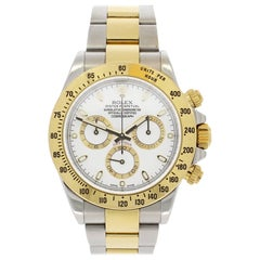 Rolex Yellow Gold Stainless Steel Daytona Wristwatch Ref 116523, 2015