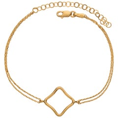 18ct Yellow gold 18 ct rose gold silver white gold Medium Vermeil Bracelet