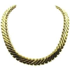 1960s 18 Karat Yellow Gold Collar Necklace