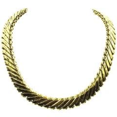 1960s 18 Karat Yellow Gold Collar Necklace