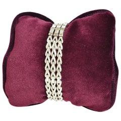 Three-Row Diamond Bracelet/Necklace