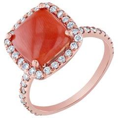 3.30 Carat Coral Diamond Ring