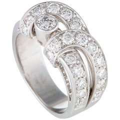 Boucheron Diamond White Gold Band Ring