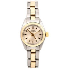 Rolex Ladies Gold and Steel Oyster Perpetual Wristwatch