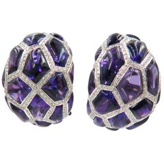 De Grisogono Amethyst Diamond Earrings