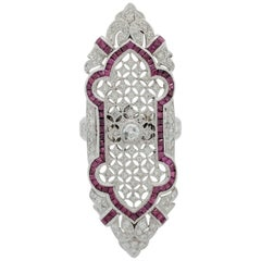 Ruby Diamond Filigree Ring