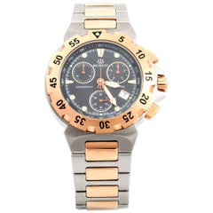 Burrett Steel and Golden Diving Chrono Wristwatch