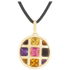 Cartier Yellow Gold Multi-Gemstone Pasha Pendant