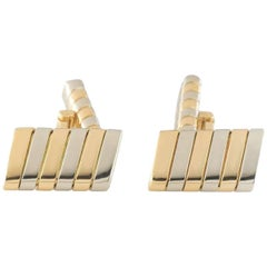 Bulgari Yellow and White Gold Tubogas Cufflinks