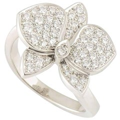 Cartier White Gold and Diamond D'Orchidees Ring