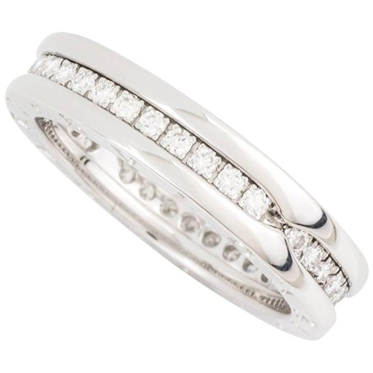 Bulgari White Gold Diamond Set B.Zero1 Ring