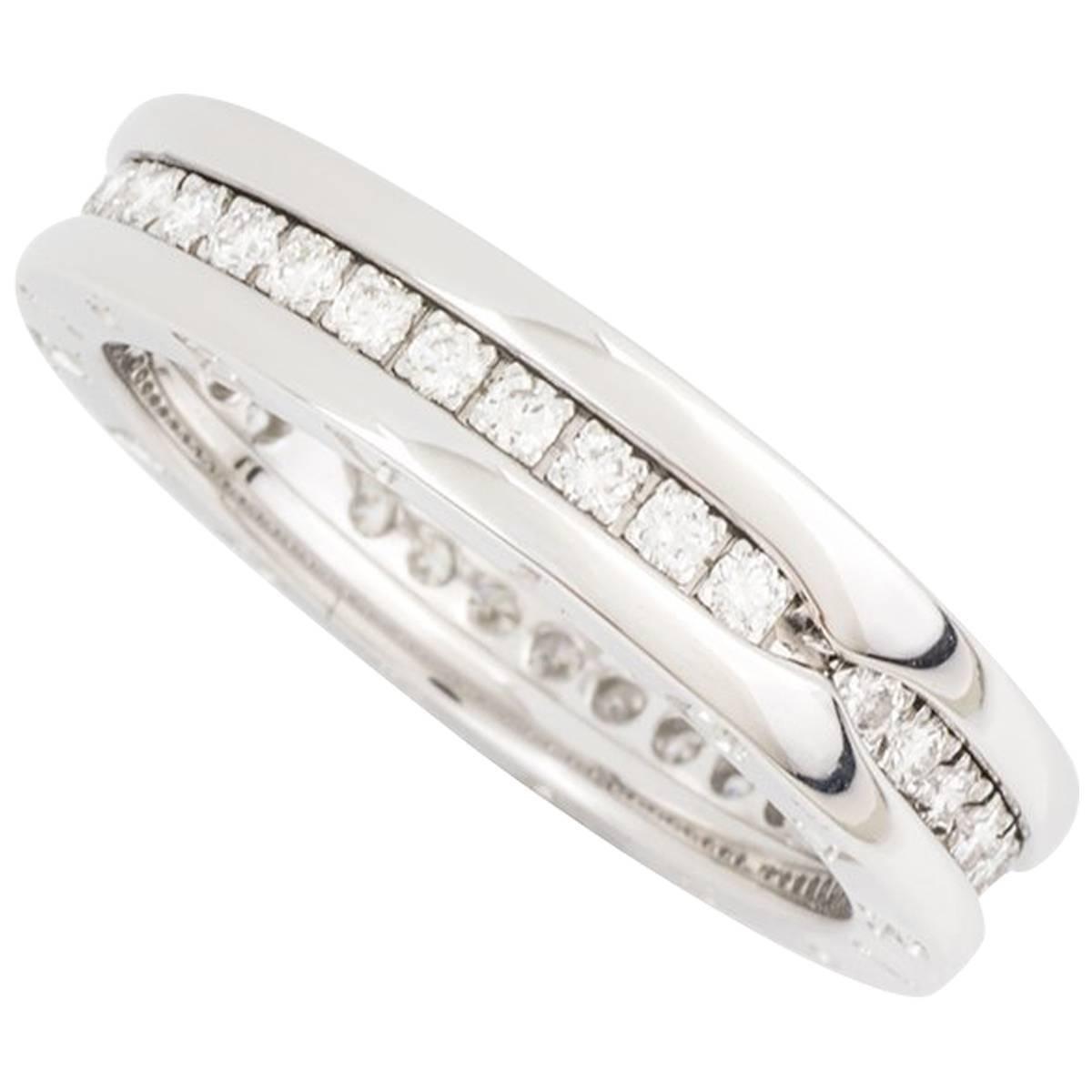 bulgari white gold diamond set bzero1 ring 1