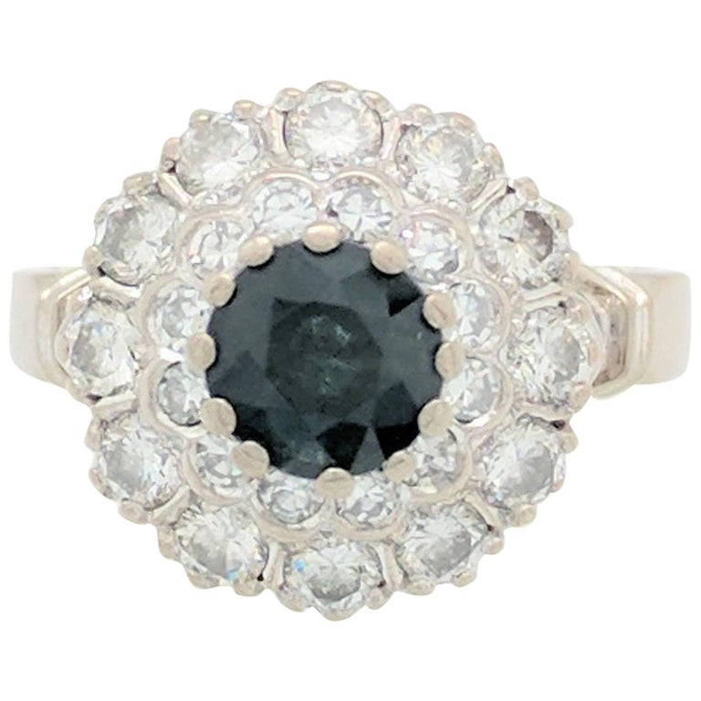 Sapphire Single Cut Diamond Ring