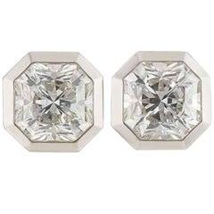 Tiffany & Co. Lucida Cut Diamond Platinum Earrings 2.88 Carat