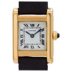 Cartier Ladies Yellow Gold Tank Normale Manual Wristwatch, circa 1970s