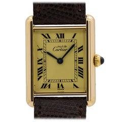 Cartier Vermeil Tank Louis Quartz Wristwatch , circa 1990s