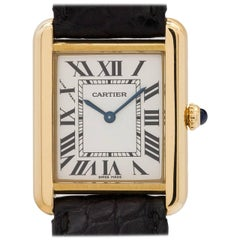 Cartier Ladies Yellow Gold Tank Solo Quartz Wristwatch Ref 2473