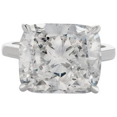 GIA Certified 7.01 Carat Cushion Diamond Ring