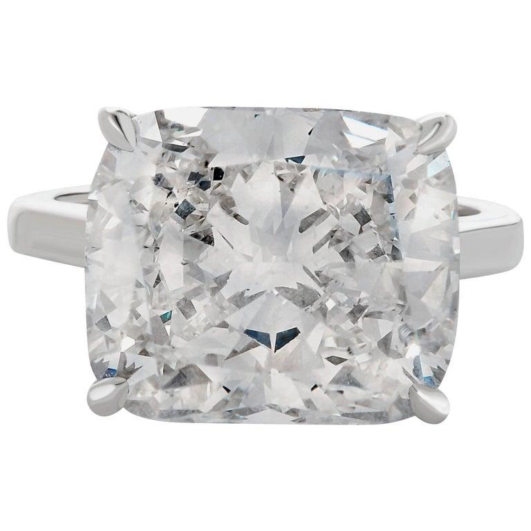 GIA Certified 7.01 Carat Cushion Diamond Ring