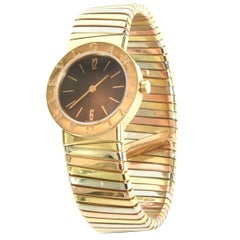 Bulgari Ladies Tri-Color Gold Tubogas Wristwatch