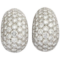 Cartier Paris Diamond Bombe Hoop Clip-on Earrings