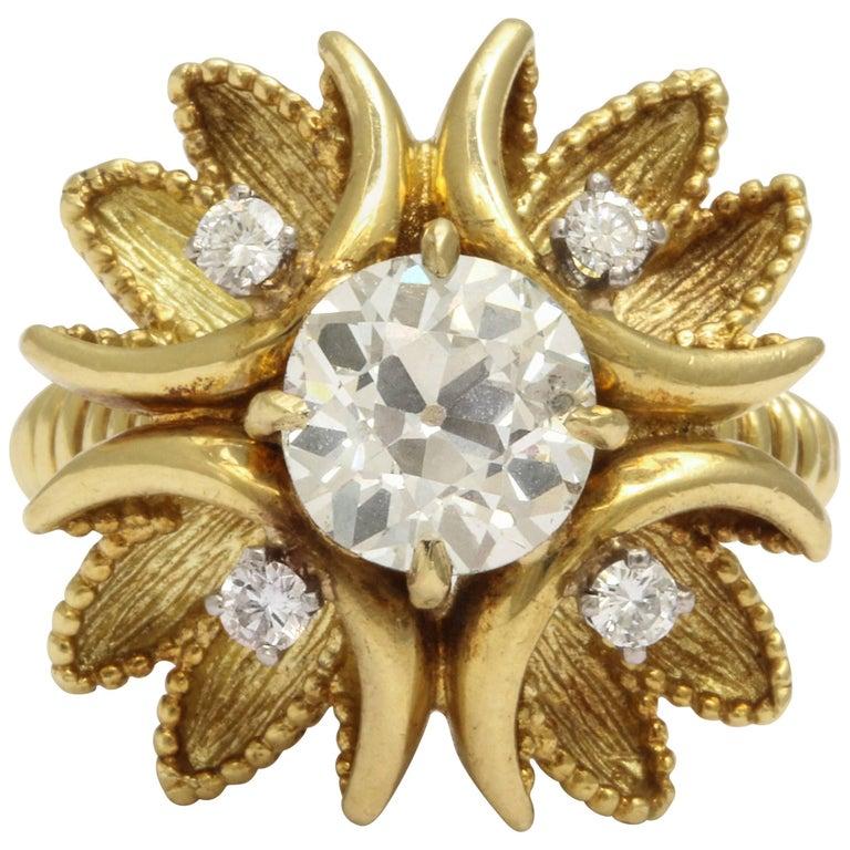 Retro Era Cartier Diamond Cocktail Ring