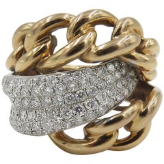Diamond Rose Gold Cable Ring