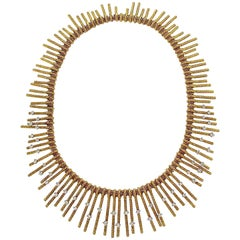 Tiffany & Co. Schlumberger Modern Gold Diamond Fringe Necklace