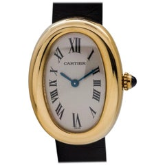 Cartier Ladies Yellow Gold Baignoire Quartz Wristwatch, circa 1990s