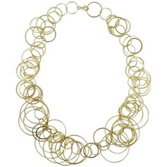 Carolina Bucci Gold Circle Link Necklace