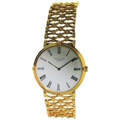 Patek Philippe Yellow Gold Screw Back Bracelet Manual Watch, circa 1970s