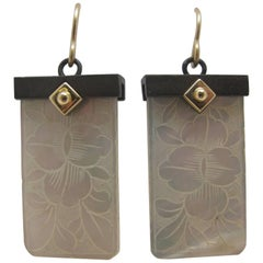 Antique Gaming Counter Earrings