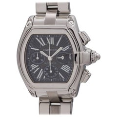 Cartier Stainless Steel Roadster Chronograph Automatic Wristwatch, circa 2000s