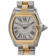 Cartier Yellow Gold Stainless Steel Roadster Automatic Wristwatch, circa 2000s