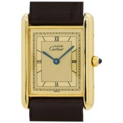 Cartier Vermeil Tank Louis Quartz Wristwatch, circa 2000