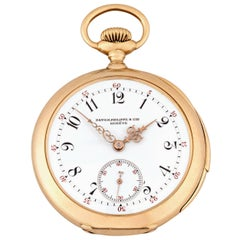 Patek Philippe Yellow Gold Enamel Dial Five-Minute Repeater Pocket Watch