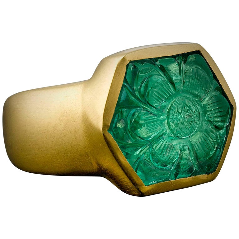 Mughal Emerald Ring